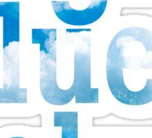 Bright, blue sky Sticker