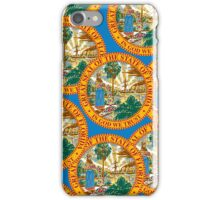 Smartphone Case - State Flag of Florida  - Great Seal Blue iPhone Case/Skin