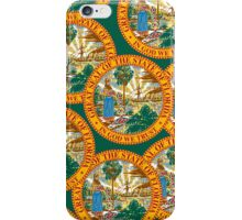Smartphone Case - State Flag of Florida  - Great Seal Green iPhone Case/Skin