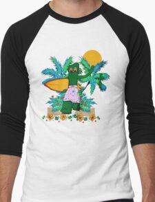 SURFING GUMBY Men's Baseball ¾ T-Shirt