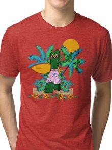 SURFING GUMBY Tri-blend T-Shirt