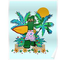 SURFING GUMBY Poster