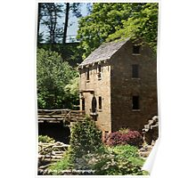 Old Mill water wheel Poster