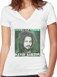 David Kirton Women's Fitted V-Neck T-Shirt