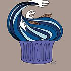 The Great Wave Cupcake by musicgeekstress