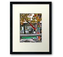 26/4 the knitted tree again Framed Print