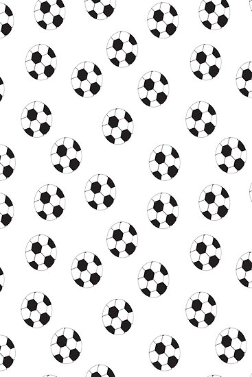 Soccer Ball Pattern by ValeriesGallery