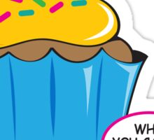 Cupcake with Attitude Sticker