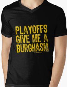 Burghasm Mens V-Neck T-Shirt