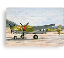 Lockheed lightning P-38 J Thoughts of Midnite Canvas Print