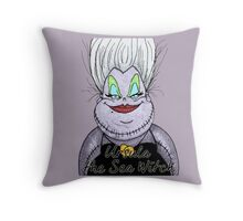 Ursula the sea witch Throw Pillow