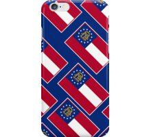 Smartphone Case - State Flag of Georgia  - Patchwork Blue Diagonal iPhone Case/Skin