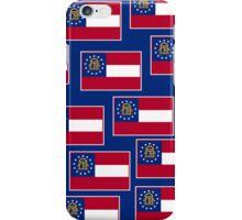 Smartphone Case - State Flag of Georgia  - Patchwork Blue Horizontal iPhone Case/Skin