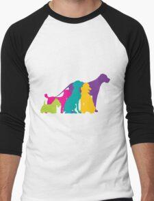 Dog Silhouettes Colour Men's Baseball ¾ T-Shirt