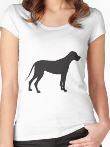 Great Dane Silhouette Women's Fitted Scoop T-Shirt