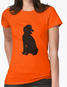 Poodle Silhouette Womens Fitted T-Shirt