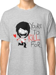 Jeff The Killer Loves You Classic T-Shirt
