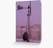 Windmill in the fog Greeting Card