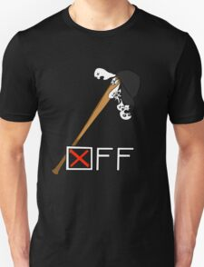 """OFF"" Batter's bat and hat t-shirt T-Shirt"