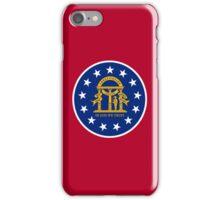 Smartphone Case - State Flag of Georgia  - Seal Red iPhone Case/Skin