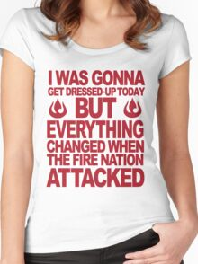 Blame the Fire Nation- red  Women's Fitted Scoop T-Shirt