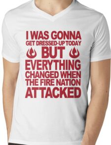 Blame the Fire Nation- red  Mens V-Neck T-Shirt