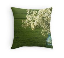 Baby's Breath in a Jar Throw Pillow