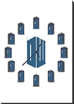 Dr. Who - Tardis & Logo - Clock by Bastien13