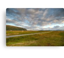 Road to clouds Canvas Print
