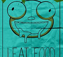 I EAT FOOD (Invader Zim) by lazerwolfx