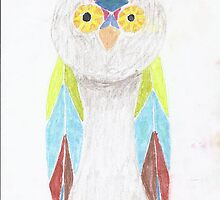 Bemused Jeweled Owl by Sky W