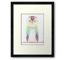 Bemused Jeweled Owl Framed Print