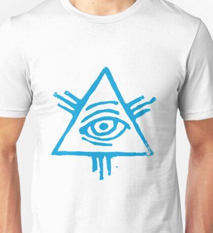 Eye of Providence in light blue Unisex T-Shirt