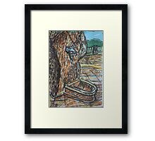 Watercolor Sketch - Water from the Stone. Randazzo, Sicily 2013 Framed Print