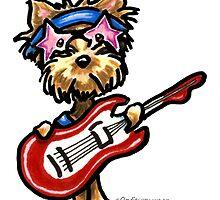 Yorkie Rock Star by offleashart