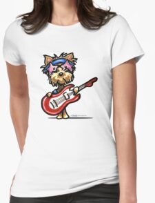 Yorkie Rock Star Womens Fitted T-Shirt