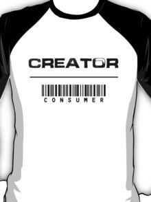 Creator over Consumer (Black) T-Shirt