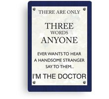 3 Whovian Words Canvas Print