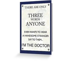 3 Whovian Words Greeting Card