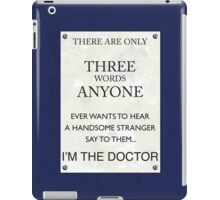 3 Whovian Words iPad Case/Skin