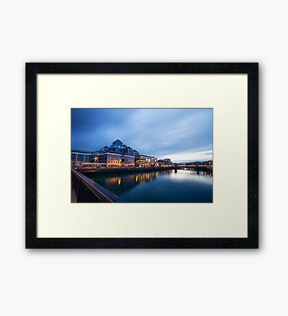 Dublin Quay, Ireland Framed Print
