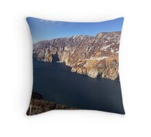 Slieve League, Co. Donegal Throw Pillow