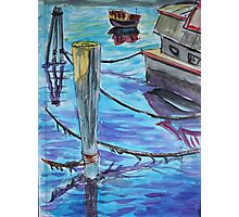 Watercolor Sketch - Sausalito Docks. 70 Issaquah Dock. 2013 Photographic Print