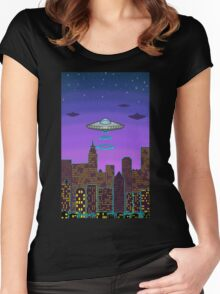 City Night Women's Fitted Scoop T-Shirt