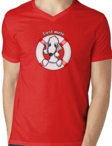 Bedlington Terrier :: First Mate Mens V-Neck T-Shirt