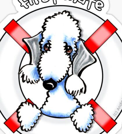 Bedlington Terrier :: First Mate Sticker