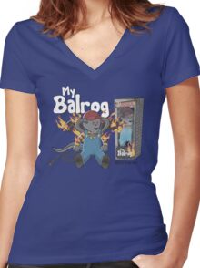 My Balrog And Me Women's Fitted V-Neck T-Shirt