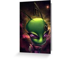 Invader Zim Fan Art - Irken Tak Greeting Card