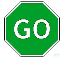 Go Traffic Sign by kololo