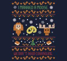 I Married A Moose Christmas Sweater by pimator24